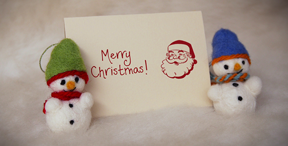 Felt Christmas & New Year Greetings - Download Videohive 9677716