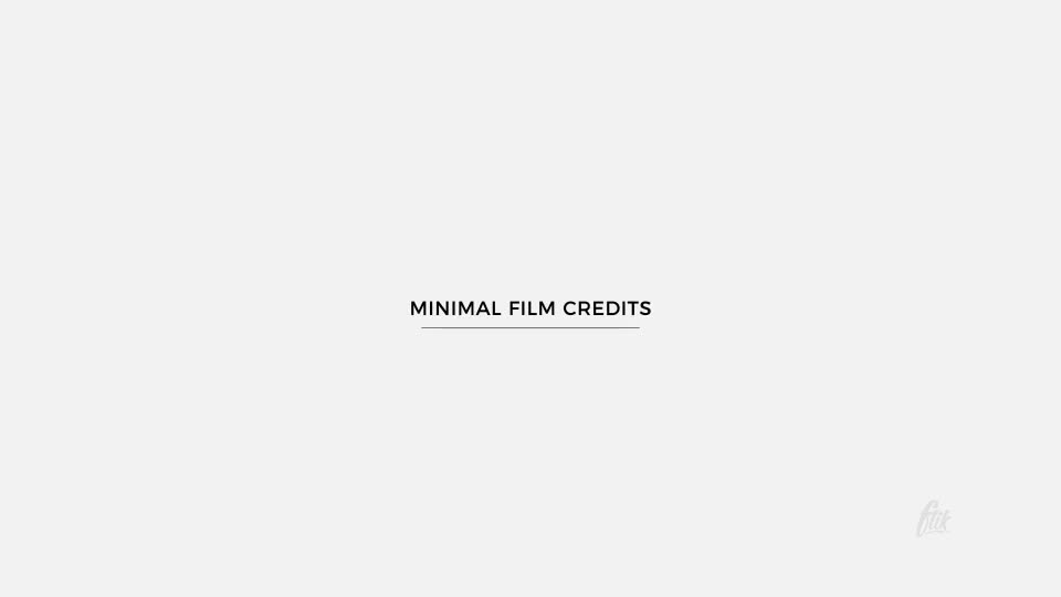 Film Credits - Download Videohive 19987952