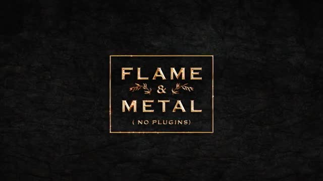 Flame & Metal / Fire Logo Reveal - Download Videohive 16928053