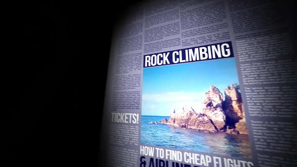 Flight Through Newspapers Pages - Download Videohive 19878211