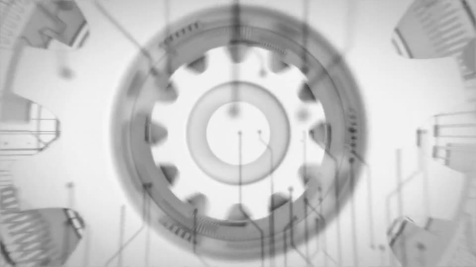 Futuristic Gears Logo Reveals Videohive 25638816 After Effects Image 1