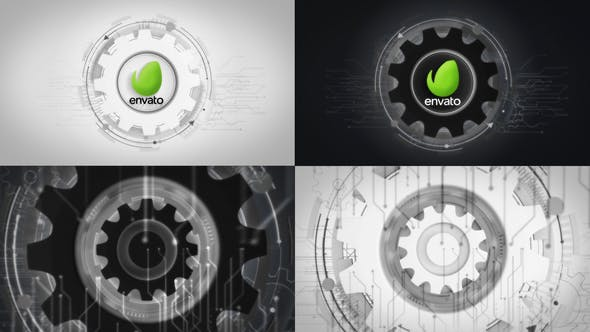 Futuristic Gears Logo Reveals - 25638816 Download Videohive