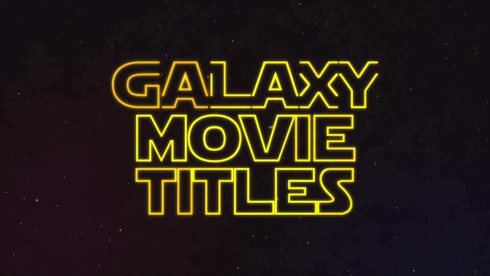 Galaxy Movie Titles - Download Videohive 6000599