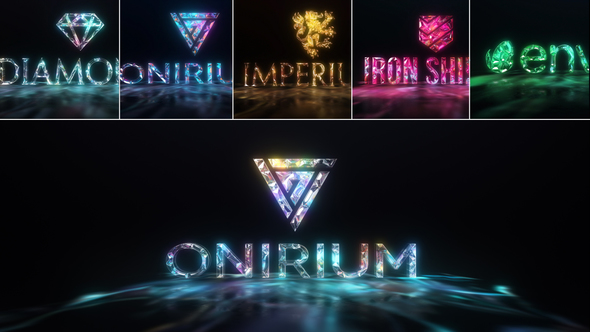 Gems & Lights Gemstones Logo Reveal Pack - Download Videohive 21760104