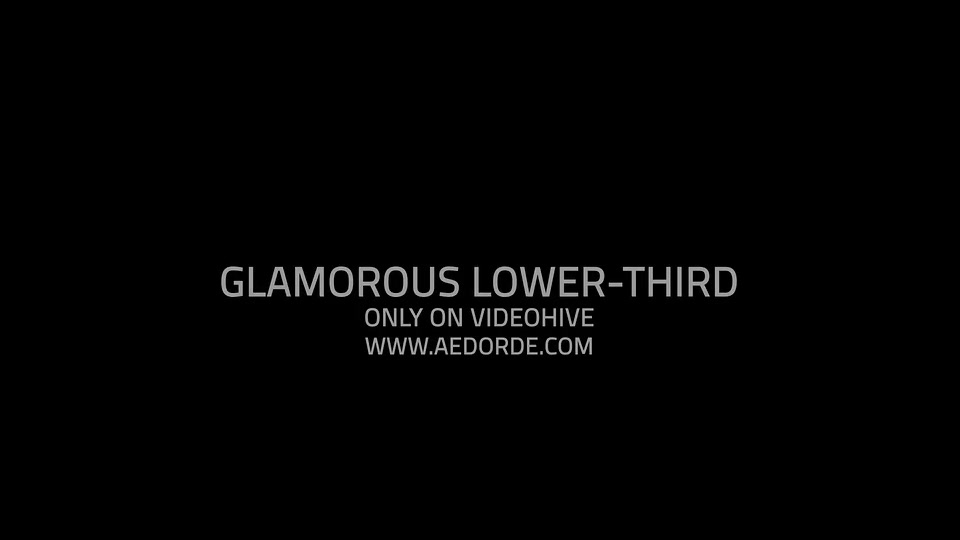 Glamorous Lower Third - Download Videohive 6508616