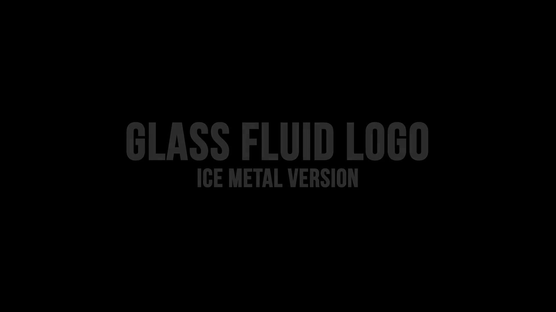 Glass Fluid Logo Reveal - Download Videohive 18623624