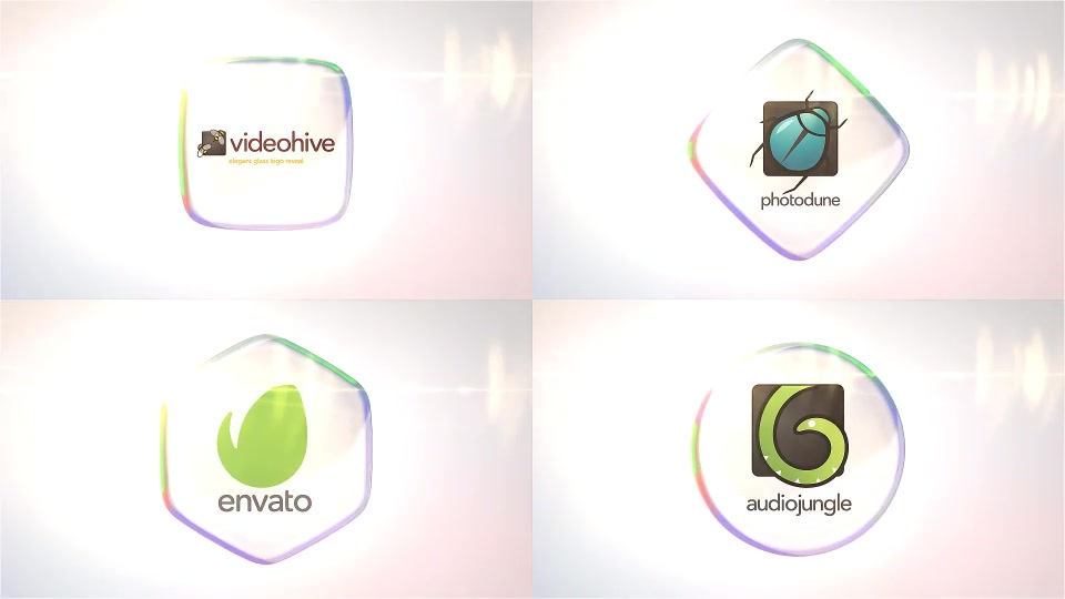Glass Logo Reveal Pack - Download Videohive 16912024