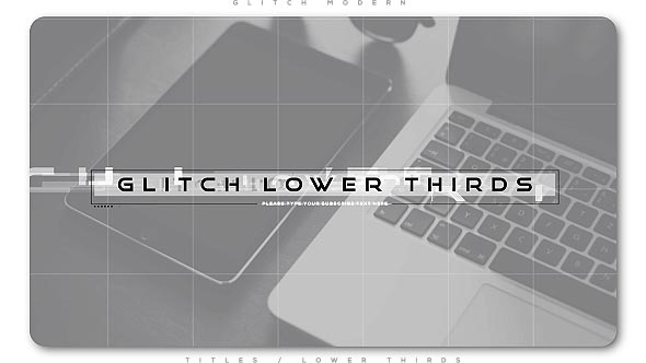 Glitch Modern Lower Thirds - Download Videohive 20952949