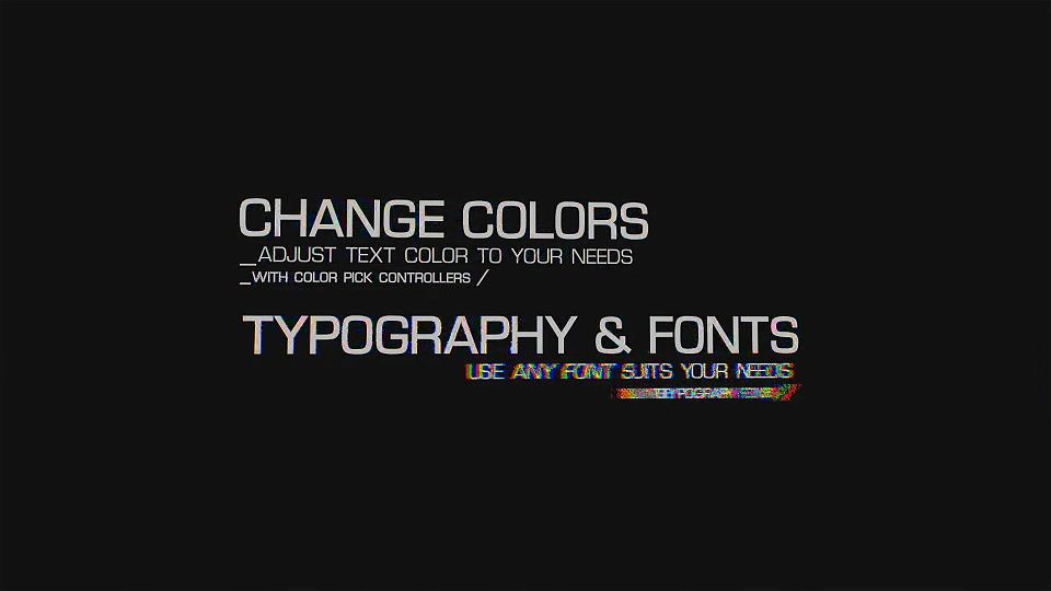 Glitch Text Effects Toolkit + 30 Title Animation Presets - Download Videohive 15435003