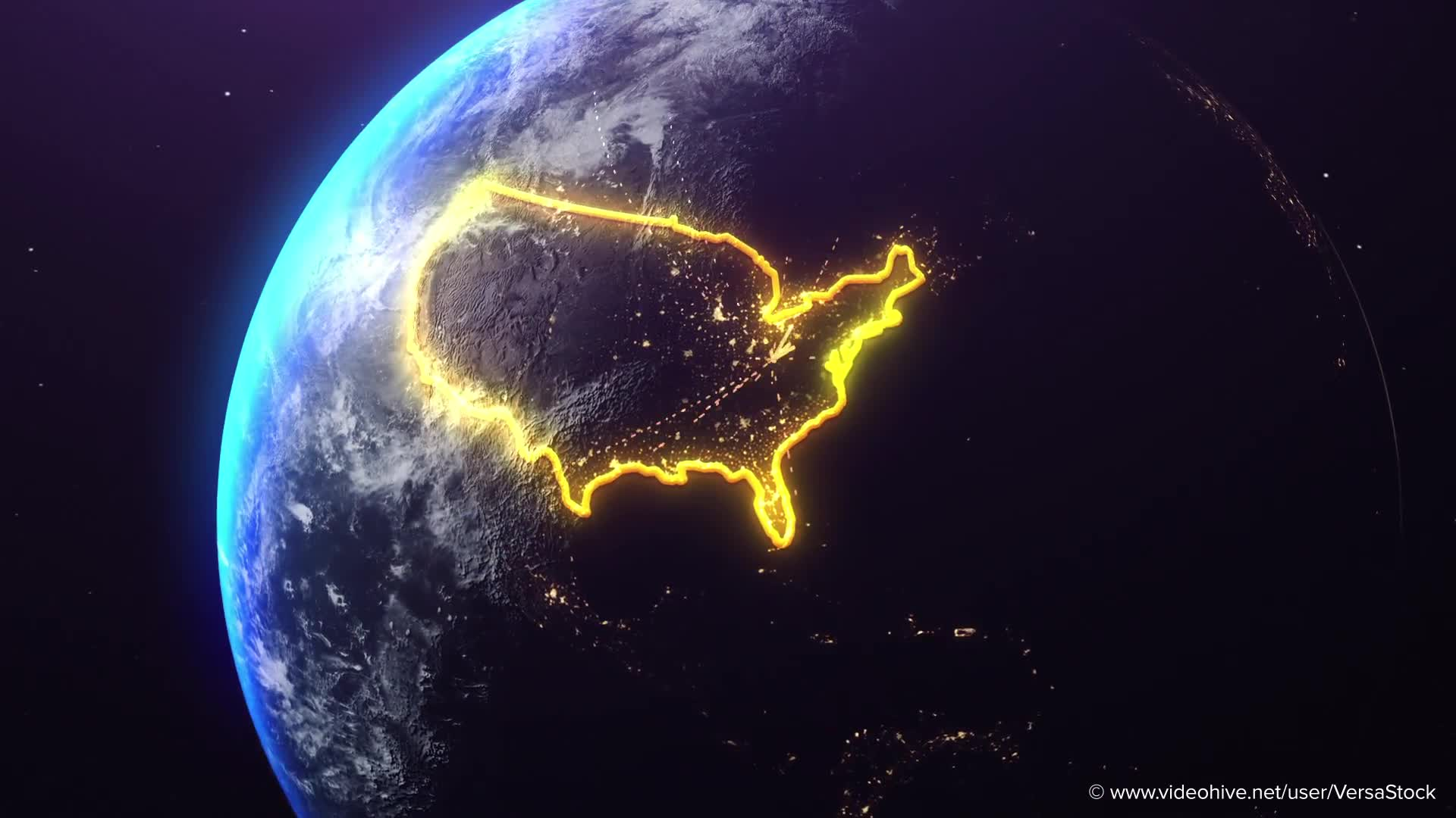 Global Economics From Space Infographics Videohive 25031384 After Effects Image 1