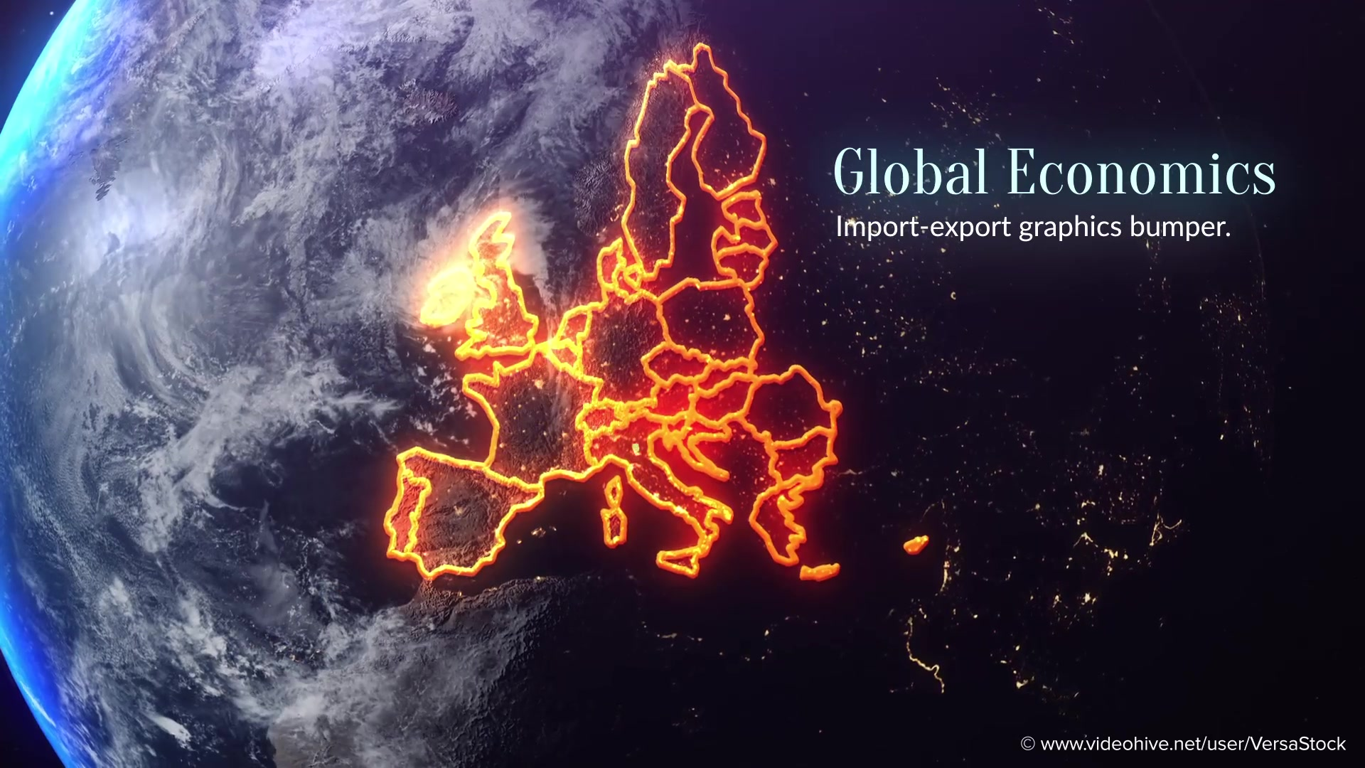 Global Economics From Space Infographics Videohive 25031384 After Effects Image 4