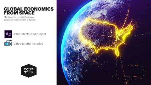 Global Economics From Space Infographics - Download Videohive 25031384