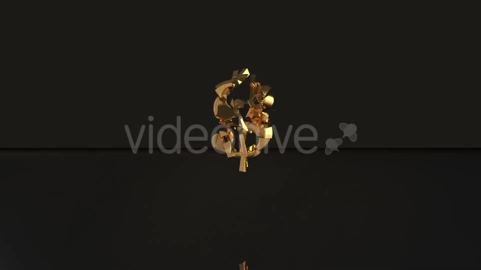 Golden Dollar Sign Breaking - Download Videohive 19865675
