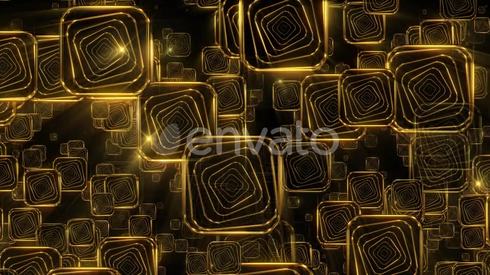 Golden Falling Squares 2 - Download Videohive 21934367