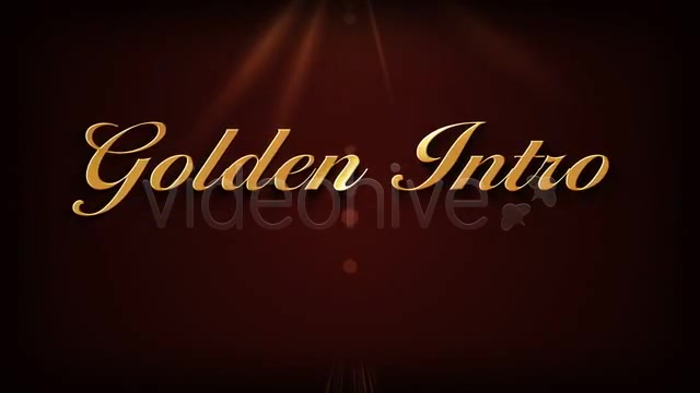 Golden Intro - Download Videohive 459748