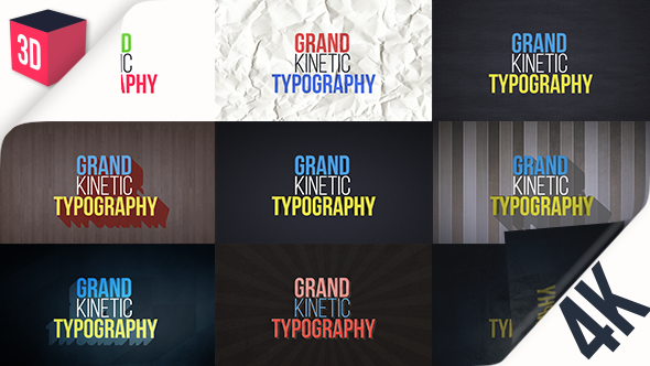 Grand Kinetic Typography - Download Videohive 17124183