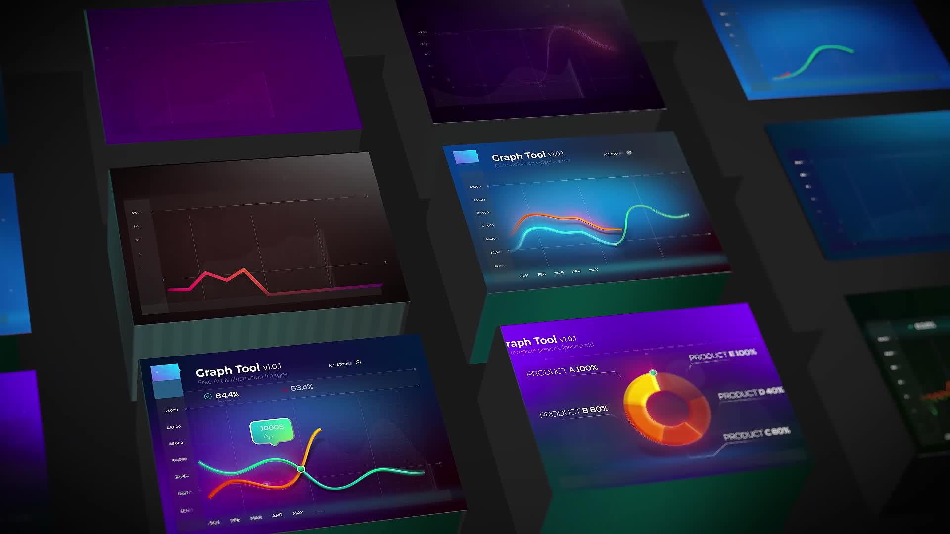 Graph Tool | Infographics Сharts Bundle Videohive 29124362 After Effects Image 1