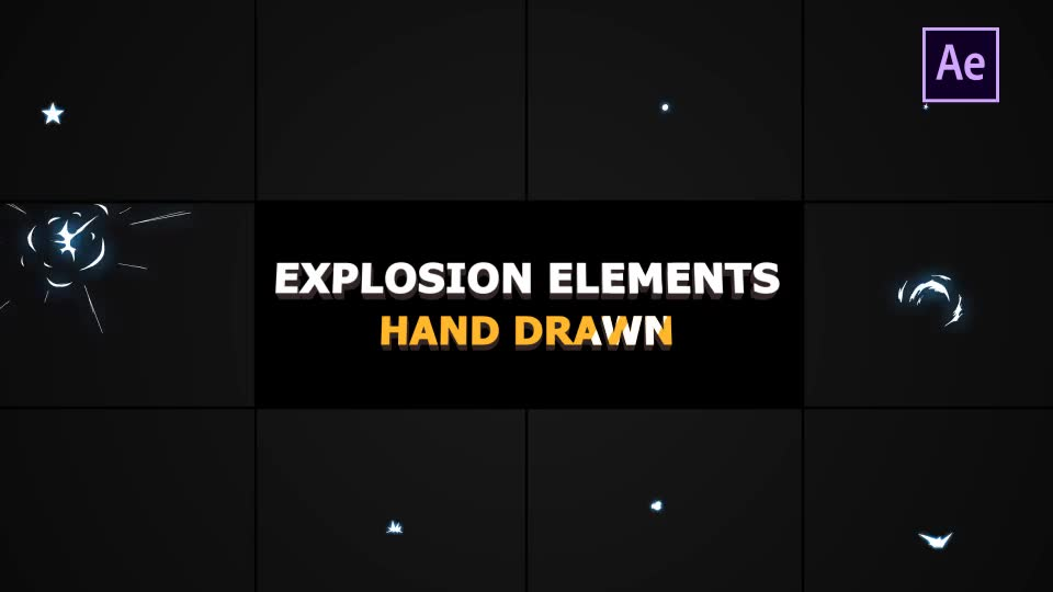 Hand Drawn Explosion Elements And Transitions - Download Videohive 21136400