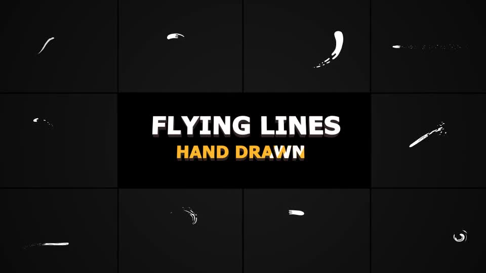 Hand Drawn Flying Lines - Download Videohive 21283225