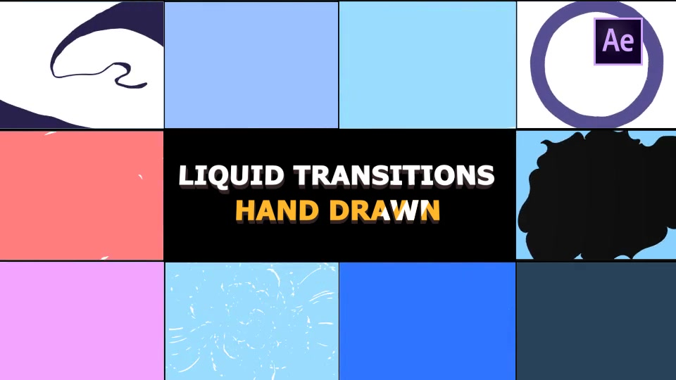 Hand Drawn Liquid Transitions - Download Videohive 21136830