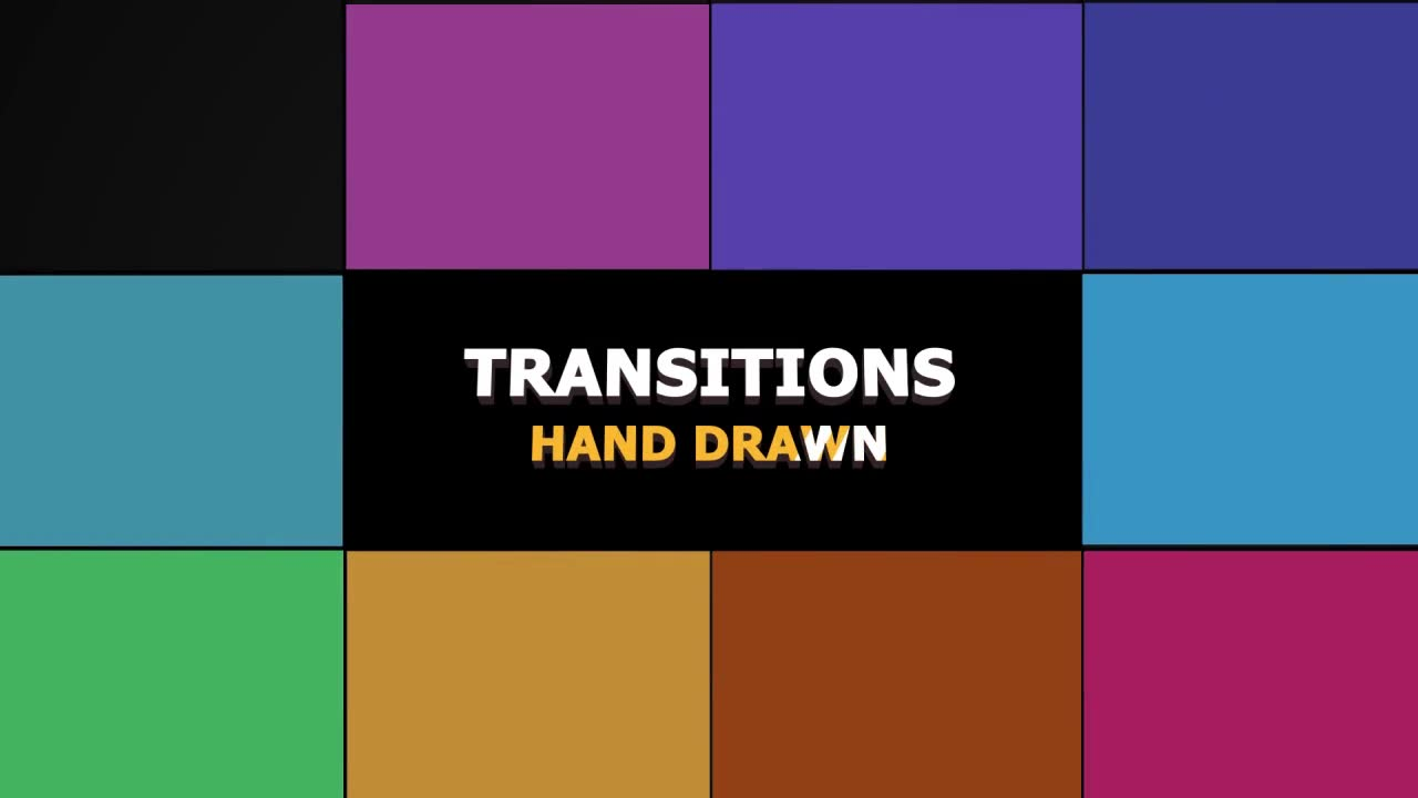 Hand Drawn Transitions Pack - Download Videohive 22668564