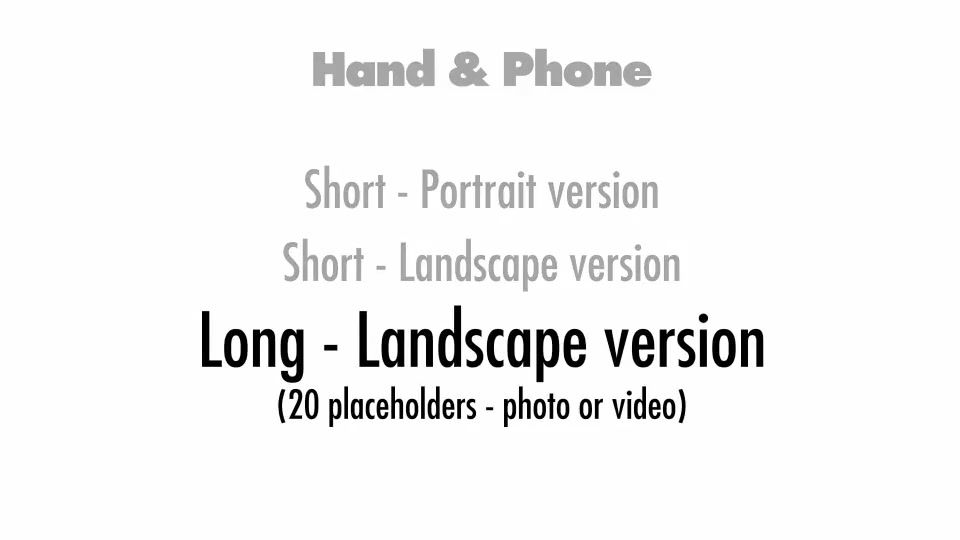 Hand & Phone - Download Videohive 13567870