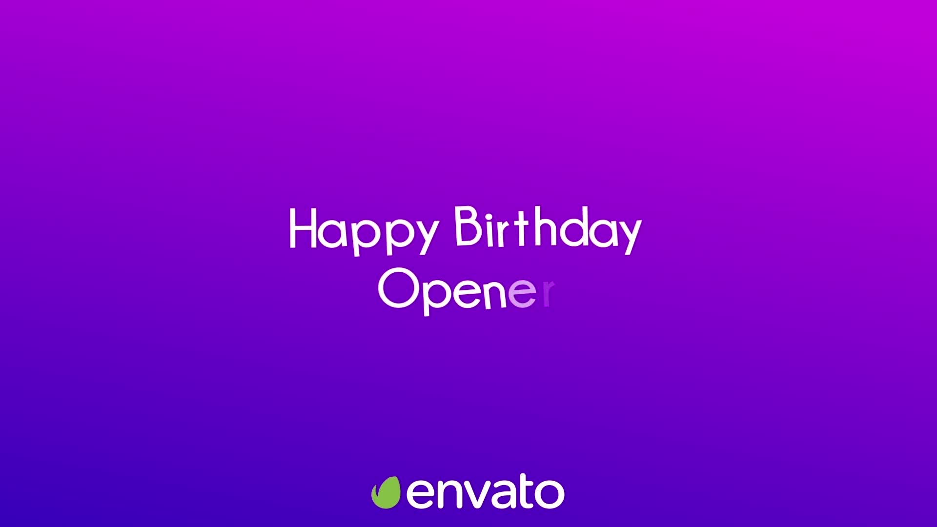 Happy Birthday Opener Videohive 31642133 After Effects Image 1
