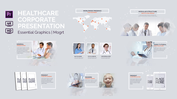 Healthcare Corporate Presentation | Essential Graphics | Mogrt - Download Videohive 22773386