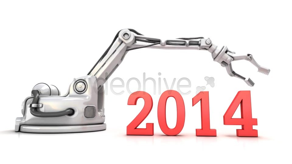 High Technology New Year 3d Animation - Download Videohive 6423072