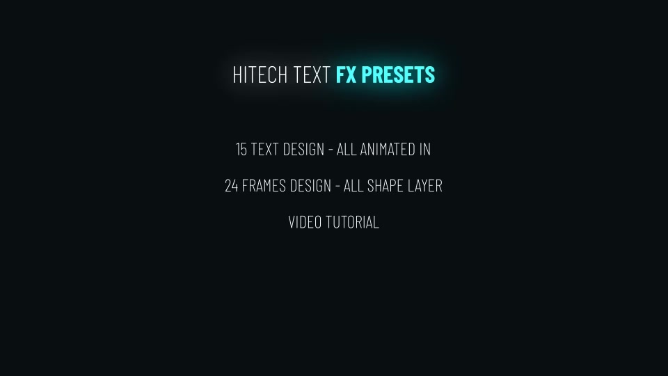 Hitech Text + Frame Presets Videohive 28185984 After Effects Image 12