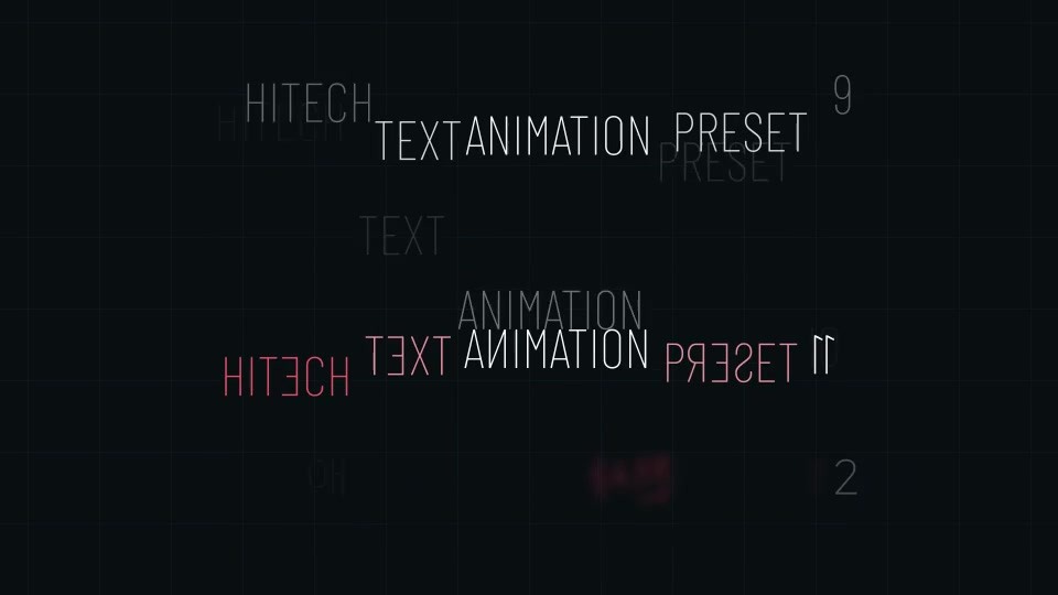 Hitech Text + Frame Presets Videohive 28185984 After Effects Image 7