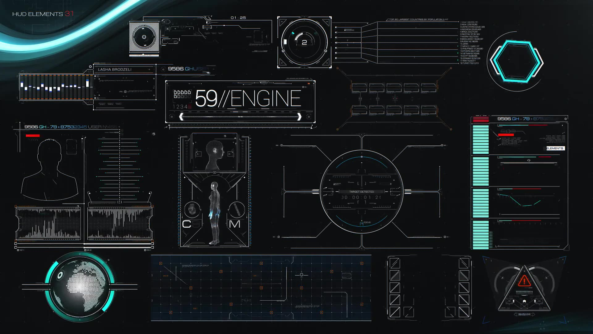 HUD Elements Mega Pack - Download Videohive 11250824