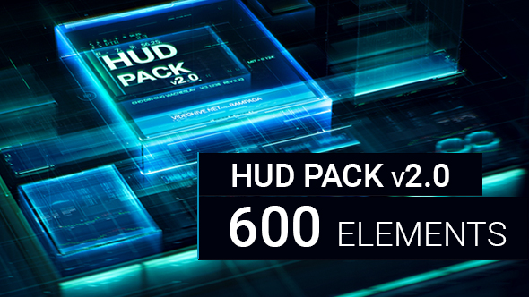HUD Pack v2.0 600 elements - Download Videohive 21100353