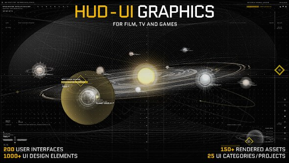 HUD UI Graphics for FILM, TV and GAMES - Download Videohive
