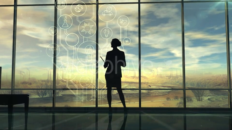 Improve The Environmental Situation, The Silhouette Of A Woman In The Office - Download Videohive 20547024