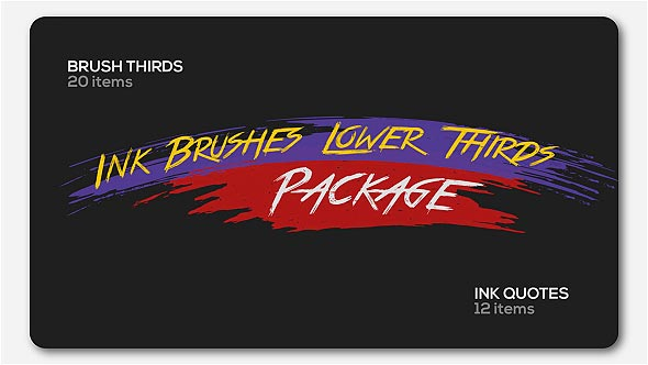 Ink Brushes Lower Thirds Package - Download Videohive 19789500
