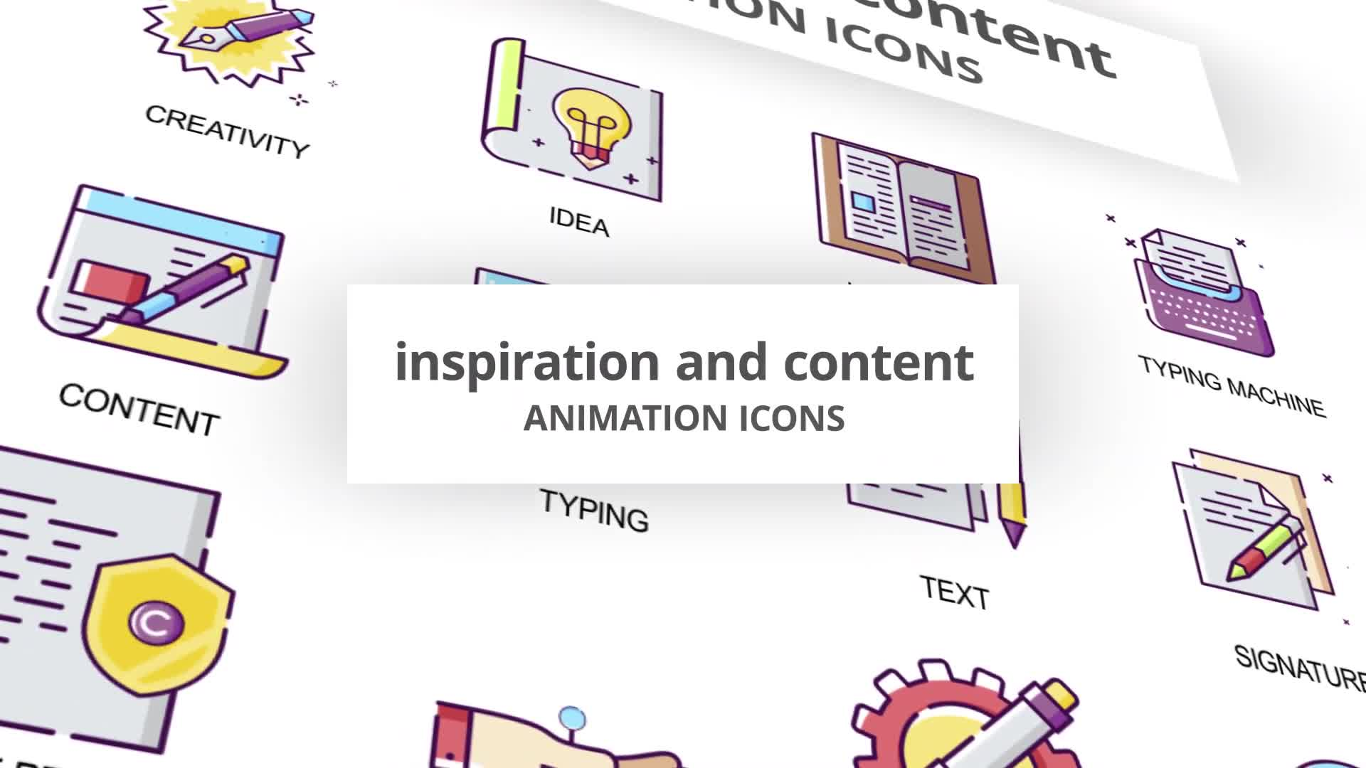 Inspiration & Content Animation Icons Videohive 30041554 After Effects Image 1