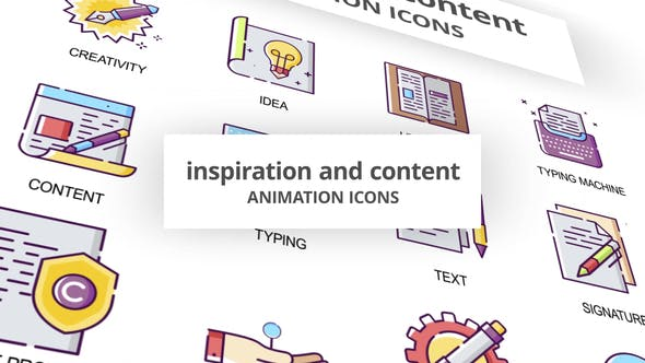 Inspiration & Content Animation Icons - Download 30041554 Videohive