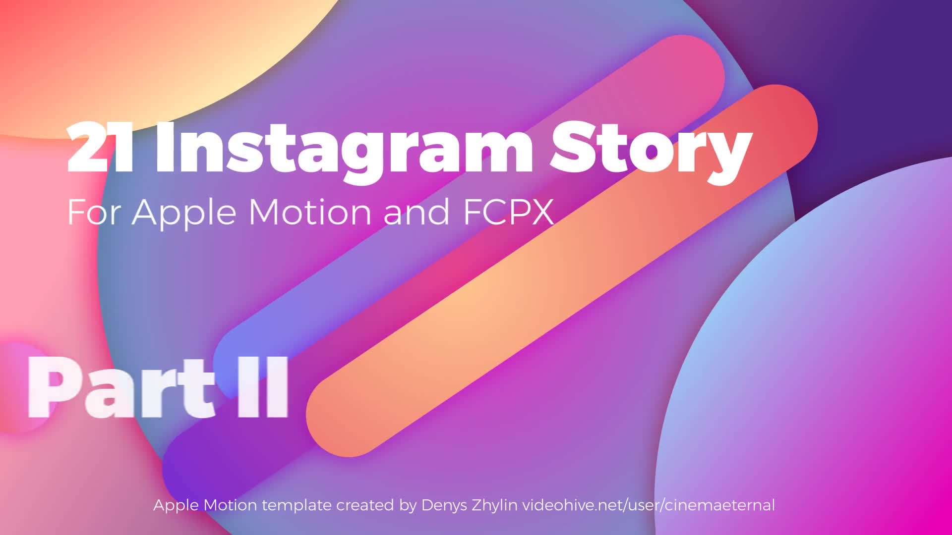 Instagram Stories for Apple Motion and FCPX Part 2