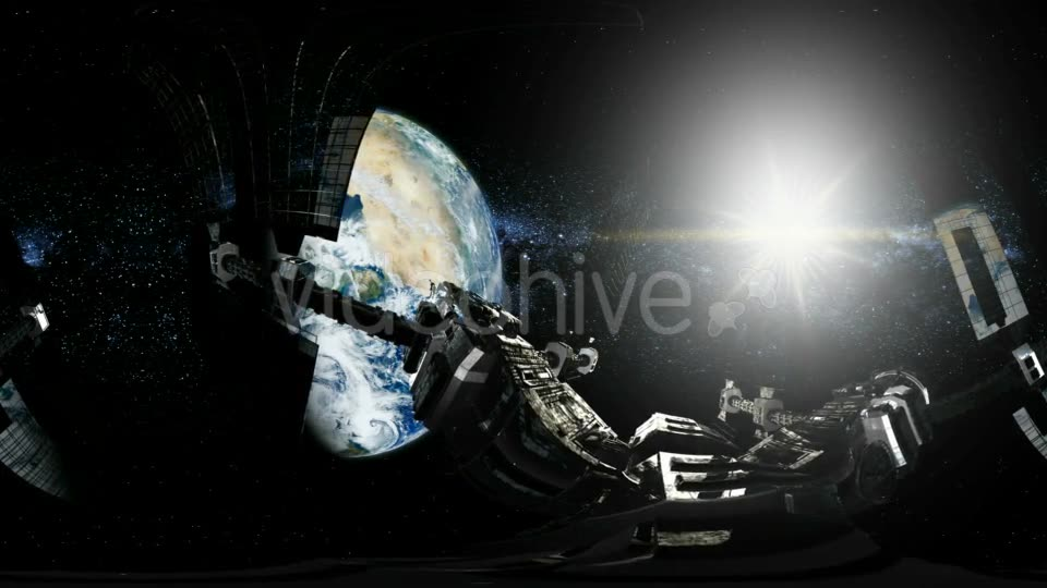 International Space Station Orbiting Earth in Virtual Reality - Download Videohive 20011451