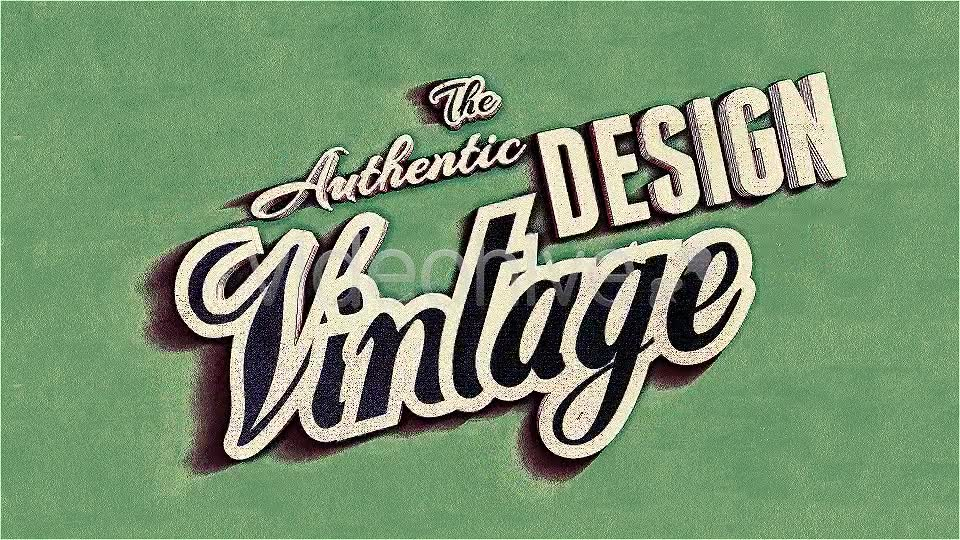 Kinetic Typography, Vintage Retro Style - Download Videohive 4799271