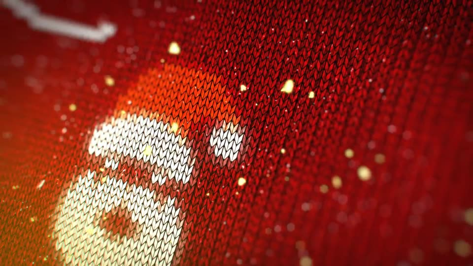 Knitted Christmas Sweater Logo Reveal - Download Videohive 19078304