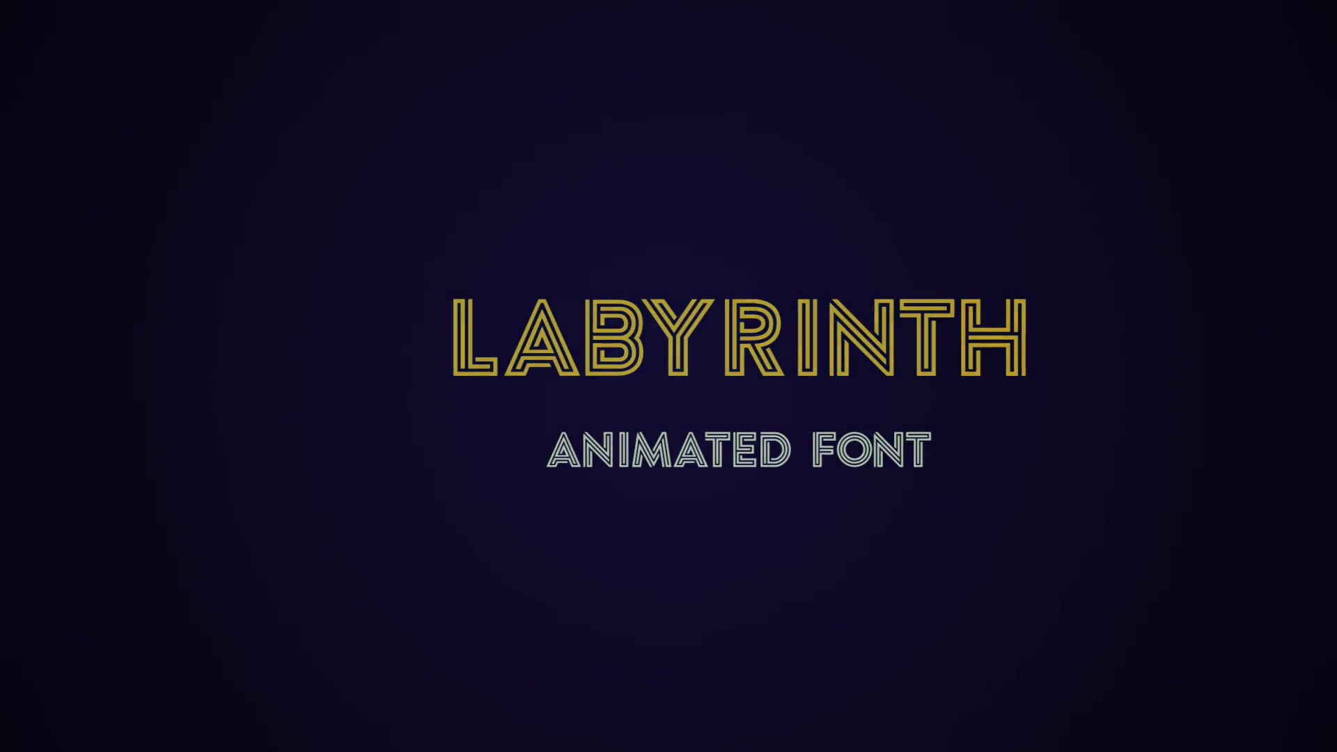 Labyrinth Animated Font - Download Videohive 18527773