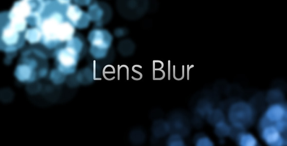 Lens Blur Intro - Download Videohive 1946685