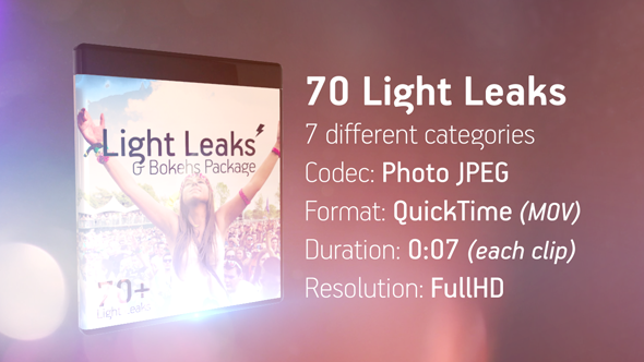 Light Leaks & Bokehs Package - Download Videohive 16105529