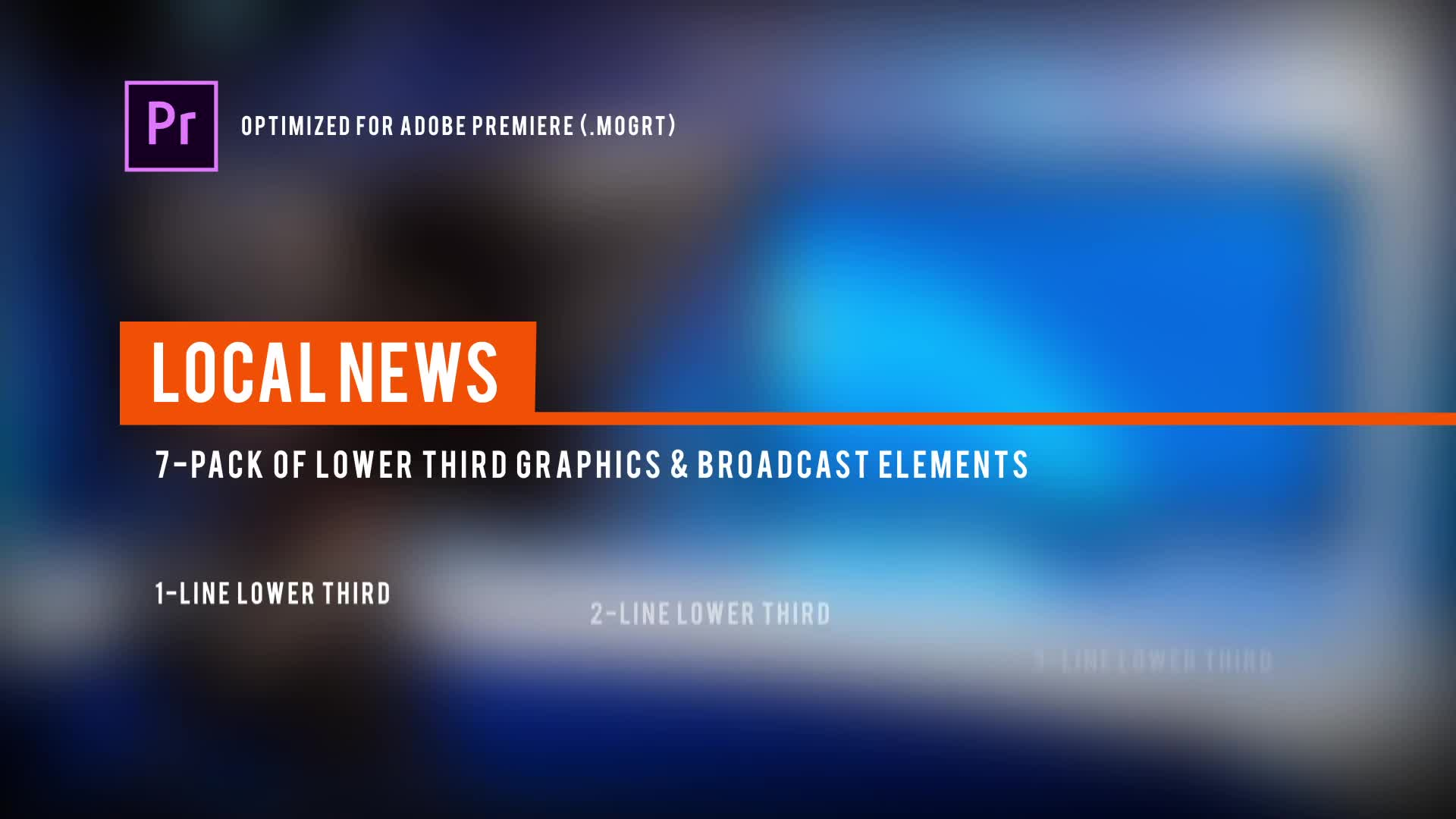 Local News Broadcast | MOGRT for Premiere Pro - Download Videohive 22426027