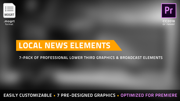 Local News Elements | MOGRT for Premiere Pro - Download Videohive 22426028