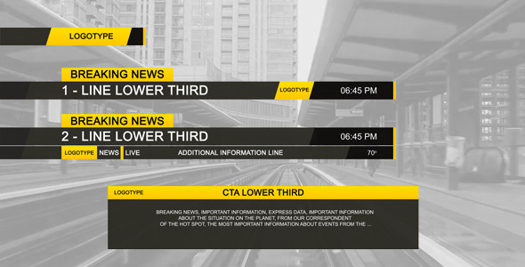 Lower Third Black - Download Videohive 2843562