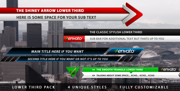 Lower Third Pack - Download Videohive 240681