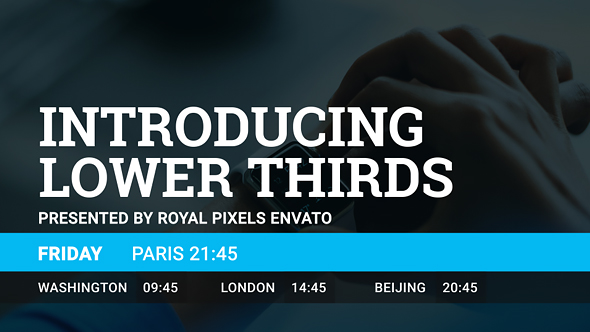 Lower Thirds - Download Videohive 17892809